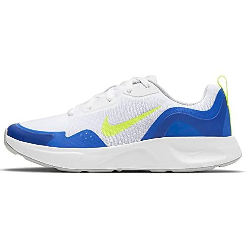 Nike Wearallday (GS), Scarpe da Ginnastica, White Volt Game Royal Grey Fog, 40 EU