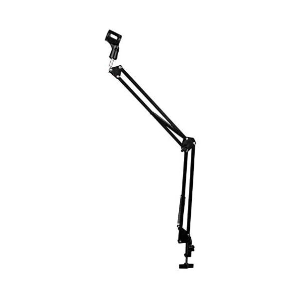 DragonPad Usa Black Adjustable Microphone Suspension Boom Scissor Arm Stand,