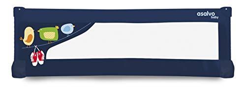 Barrière de lit Baby Fox 150 cm 'Oiseaux' - Bleu