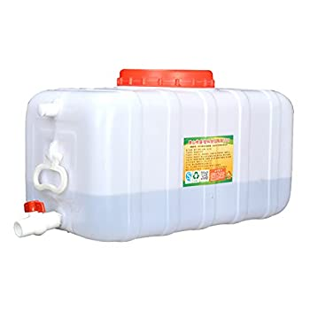 HWhome 100 litres Qualité Alimentaire des Ménages Réservoir en Plastique Rectangulaire Horizontal épaissie Couvercle De La Cuve De La Tour Réservoir d'eau De Plein Air Récipient De Stockage
