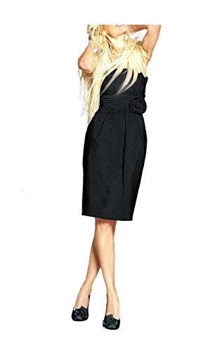 APART Damen-Kleid Satin-Etuikleid Schwarz Größe 36