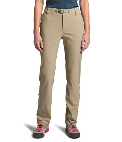 The North Face Women's Paramount Active Mid Rise Pant, Twill Beige, 4 Regular