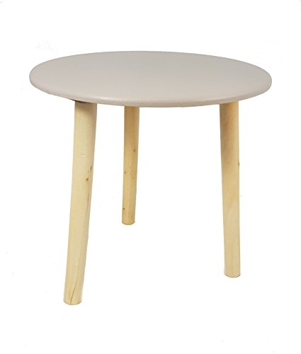 Tavolo decorativo in legno, 30 x 30 cm, colore: Tavolino basso da soggiorno, piccolo coffee table, sgabello, colore: grigio talpa