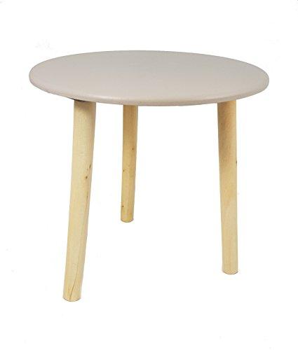 Deko Holz Tisch 30x30 cm - Farbe: Taupe - Kleiner Beistelltisch Couchtisch Sofatisch Blumenhocker