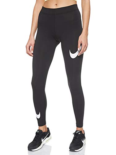 Nike Damen Sportswear Leg-A-See Swoosh Tights, Black/White, M
