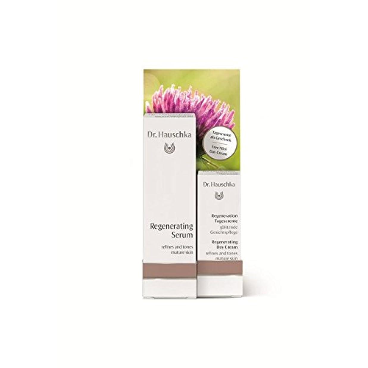逃すカニカード無料の再生デイクリーム5ミリリットルで血清を再生ハウシュカ x4 - Dr. Hauschka Regenerating Serum with a Free Regenerating Day Cream 5ml (Pack of 4) [並行輸入品]