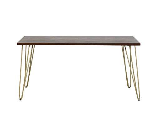 Rectangular 6 Seater Dining Table Dallas Dark Mango