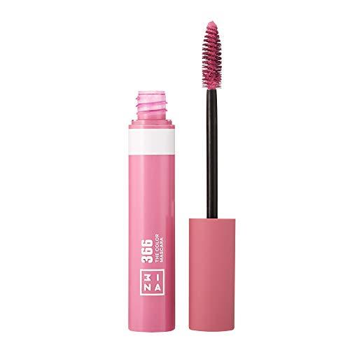 3INA Makeup - Vegan - Cruelty Free - The Color Mascara 366 - Bunter Mascara für Volumen und Länge - Bunte Wimperntusche - Hochpigmentiert - Langhaltende und Wasserfest - Rosa