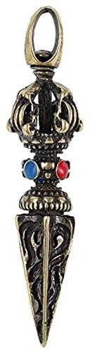 WQQLQX Statue Skulptur Statue King Kong fu mo Pestle religiöse artefakt Handwerk Statuette rein Kupfer Pendant zubehör Dekoration anhänger Geschenk Skulpturen