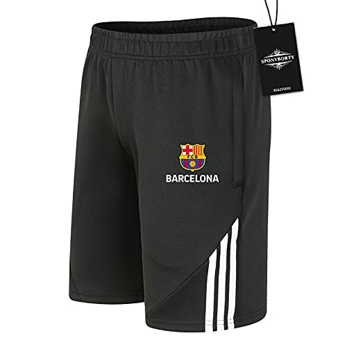 JesUsAvila Herren Schweiss Kurz Hose Sommer Bǎ-rcělōňǎ Kurze Hose Baumwolle Kurz Hose Basketball Joggen Passen Einstellen/Schwarz/M