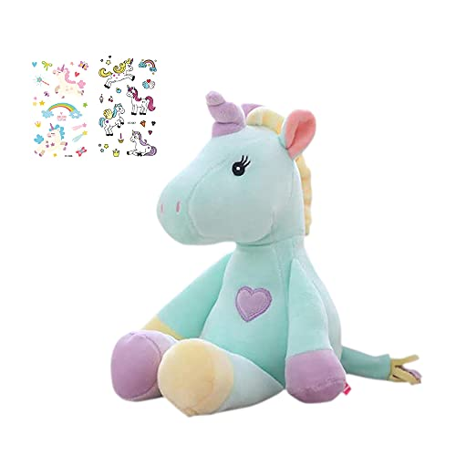 Georgie Porgy Peluche Unicornio Terciopelo Super Suave Osito de Peluche Animal Juguete Suave para Niños (Verde)