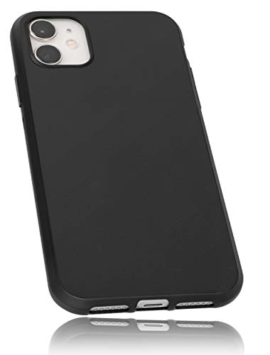 mumbi Hülle kompatibel mit iPhone 11 Handy Hülle Handyhülle, schwarz