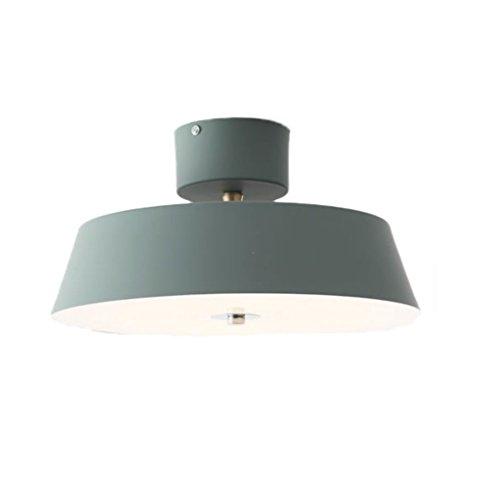 Nordic Industrial Style Deckenleuchte, Maca Aluminium Pendelleuchte, Wohnzimmer Schlafzimmer Studie Kronleuchter, LED (Color : Green)