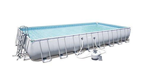 Bestway Power Steel Rectangular Frame Pool – Juego de Piscina Rectangular de Estructura de...