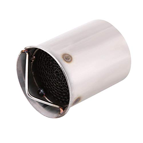 Suuonee Exhaust Pipe, 51mm Universal Motorcycle Exhaust Pipe Silencer Noise Sound Eliminator Insert DB Killer, Silver (Style 5)
