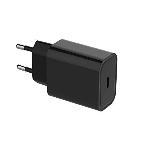 WSTERAO Cargador USB C de 20 W Fuente de alimentación USB C PD 3.0 Adaptador de Corriente USB C Enchufe de Carga Compatible con iPhone 12, 12 Mini, 12 Pro, 12 Pro MAX, 11, SE 2020