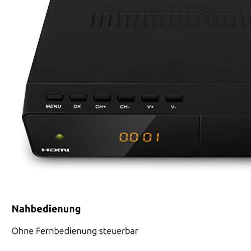 TechniSat HD-S 222 - kompakter digital HD Satelliten Receiver (Sat DVB-S/S2, HDTV, HDMI, USB Mediaplayer, vorinstallierte Programmliste, Sleeptimer, Nahbedienung am Gerät, Fernbedienung) schwarz