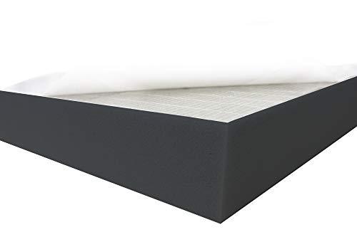 Dibapur ® Black FSE • Flamm hemmend SELBSTKLEBEND Raum Akustik Schaumstoff Dämmung Schallschutz (50x50x5 cm)