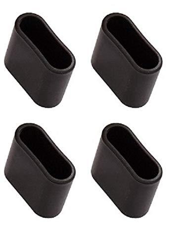 MWH Fußkappe 40x14 mm 4Stück im Set oval für Thermosint beschichtete Stapelsessel Savoy