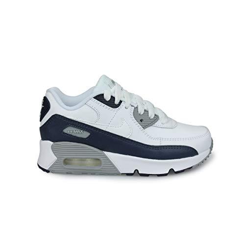 Nike Unisex-Kinder AIR MAX 90 LTR Little Kids' SH Laufschuh, White White Particle Grey Obsidian, 28 EU