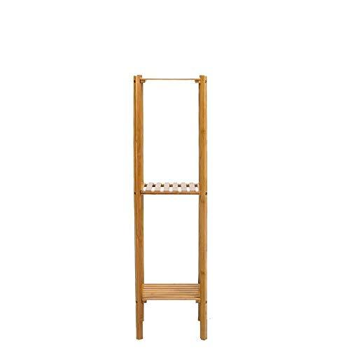 JT Étagère multi-couches en bois massif pour le salon Couleur naturelle Taille : 27,5 x 27,5 x 100 cm