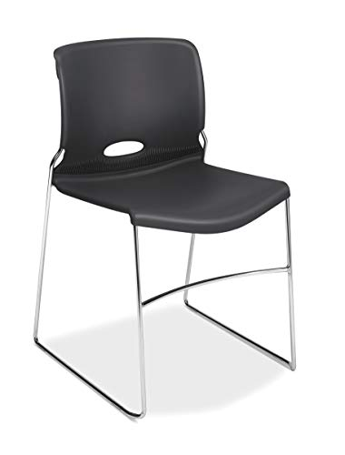 HON Olson Stacking Chair - Guest Chair for Office, Cafeteria, Break Rooms, Training or Multi-Purpose Rooms, Lava, 4 pack (H4041)