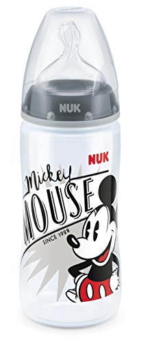 NUK First Choice Biberon Disney Mickey 300 ml Nero