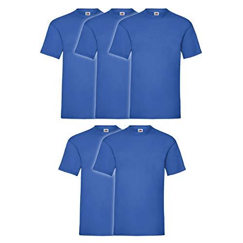 5er Pack T-Shirt Valueweight T - Farbe: Royal - Größe: L