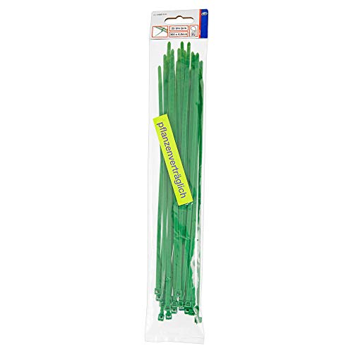 Kabelbinder 25 Stück 300 x 4,8 mm grün-pflanzenverträglich 08311