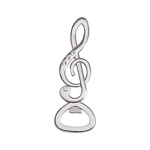 ESden - Apribottiglie portatile a forma di nota musicale per vino, birra, cucina, bar, festa di nozze