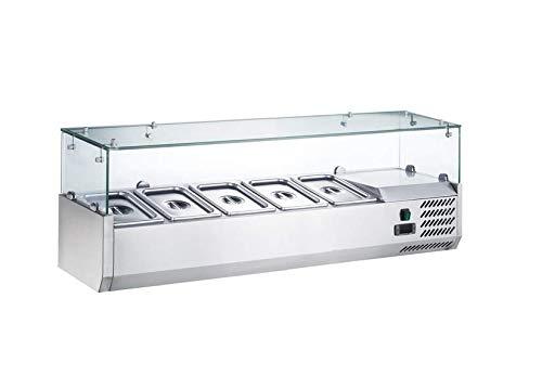 Vitrina de refrigeración para mesa de pizza y ensalada (1200/350 mm)