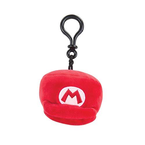 Nintendo Mario Kart Mocchi Mocchi pluche speelgoed sleutelhanger Mario Hat hoed muts meegebsel voor kinderen verjaardagen rugzak tas 10 cm - rood