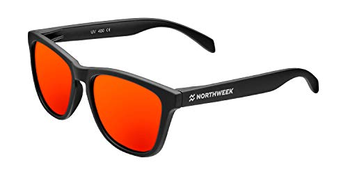 Northweek Regular FLAKA Gafas, Negro - Rojo, Adulto Unisex Adulto
