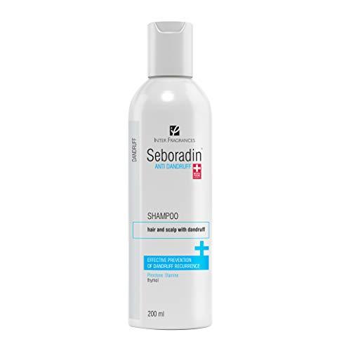 Seboradin Anti-Schuppen-Shampoo mit Pirocton Olamin und Thymol, wirksame Prävention und Wiederholung bei öliger und trockener Schuppenbildung 200 ml