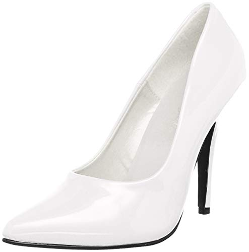 Pleaser SEDUCE-420, Damen Pumps, Weiß (Weiss (Wht Pat)), 35 EU (2 Damen UK)