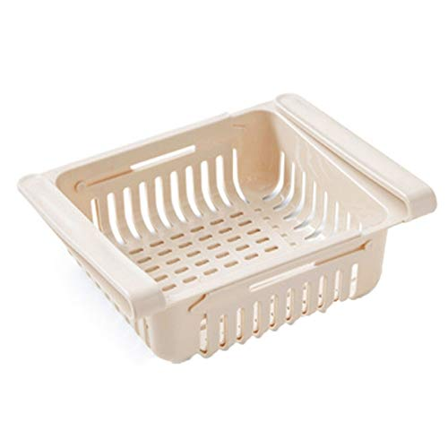 FDNFG Estantería Colgante Cocina Artículo Estante de Almacenamiento Refrigerador Cajón Estante de Placa Capa de Almacenamiento Estante Estante Organizador Rangement Cocina Estantes (Color : Beige)