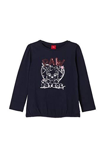 s.Oliver Junior Mädchen 403.10.009.12.130.2053590 T-Shirt, Dark Blue, 104/110/REG