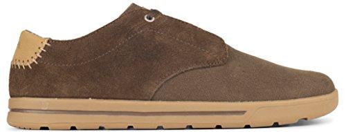 Forsake Phil Spitze–Herren Casual Leinwand Sneakers, knöchelfrei Sneaker, Herren, Bison, 12 D(M)