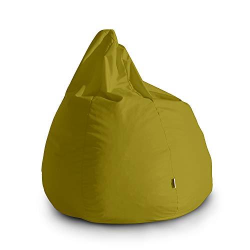 Avalon Pouf Poltrona Sacco Grande Bag L Jive 80x80x100cm Made in Italy in Tessuto antistrappo Imbottito Colore Verde Acido