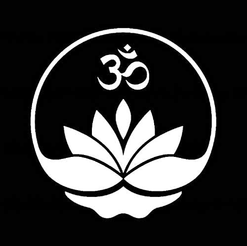 ZHAOHU Pegatina de Coche con Aplique de Vinilo Buda Buda Yoga Yoga Zen Zen meditación decoración Plata 13,7Cm * 14Cm