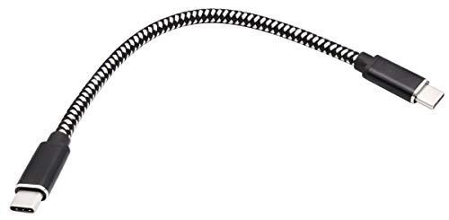 AAOTOKK 100W/5A USB C a USB C 3.1 Macho Gen 2 (10Gbps) Extensión Conector Cable, Admite Carga,Datos,Audio,Cable de Video para la Nueva MacBook,Samsung Galaxy S8,S9,S10(0.2M)