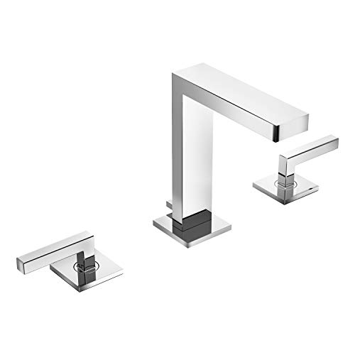 Symmons SLW-3612-1.5 Duro Widespread 2-Handle Bathroom Faucet with Drain Assembly in Polished Chrome (1.5 GPM)