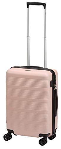 PURE Koffer Frieda | Reisekoffer | Handgepäck | Trolley | USB-Anschluss | Kofferset (rosé, S)