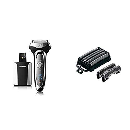Panasonic ARC5 Electric Razor for Men, 5 Blades Shaver & Trimmer, Shave Senor Technology, Automatic Clean & Charge Station, Wet...