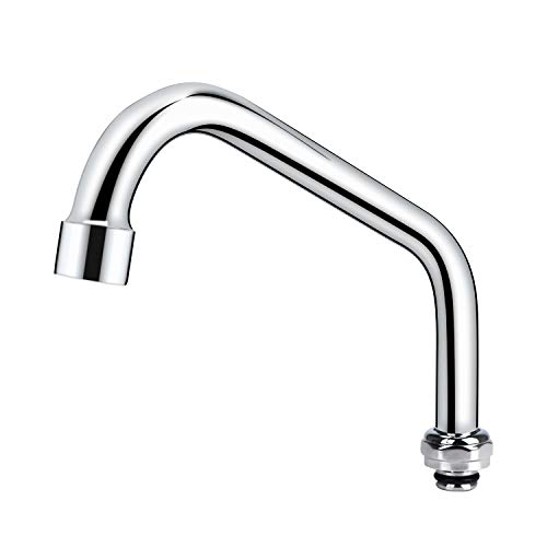 COOLWEST Swivel Spout Replacement Kit for Commercial Kitchen Sink Faucet 8 Inch Short Swing Spouts with 2.2 GPM Aerator Chrome Finish