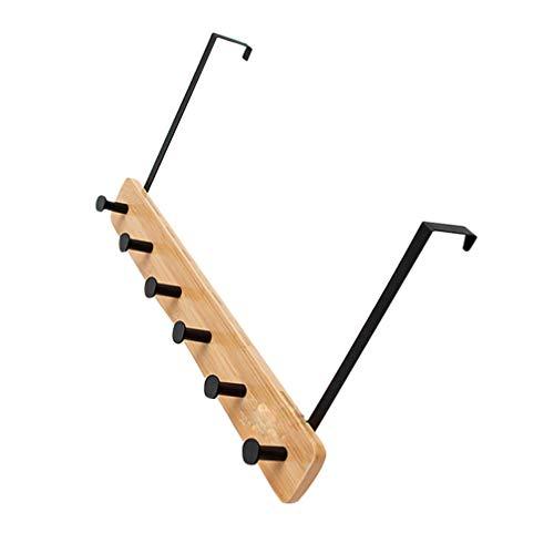 Cabilock über Dem Türhaken Kleiderbügel Wandgarderobe Hochleistungs-Türorganisator für Garderobe Handtuch Robe Kleidung (Schwarz 6 Haken)