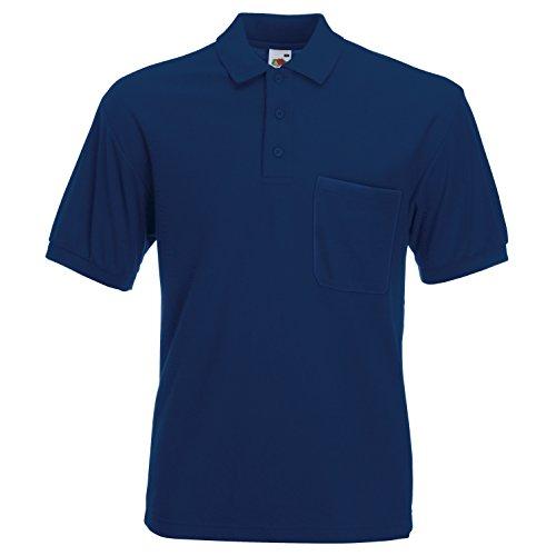 Fruite of the Loom Polo Shirt mit Brusttasche, vers. Farben L,Navy Blau