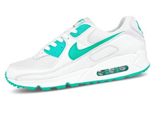 Nike Air MAX 90, Zapatillas para Correr para Hombre, White Hyper Jade Black, 42.5 EU