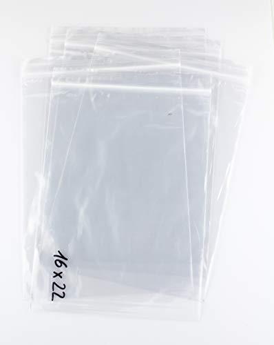 Bolsa de plastico autocierre 16 x 22 cm (100 Unidades)