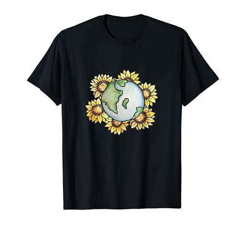 Día de la Tierra Girasoles Aman Camiseta